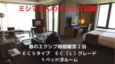 03.春のエクシブ箱根離宮2泊 EC5タイプ EC(L)グレード 1ベッド洋ルーム