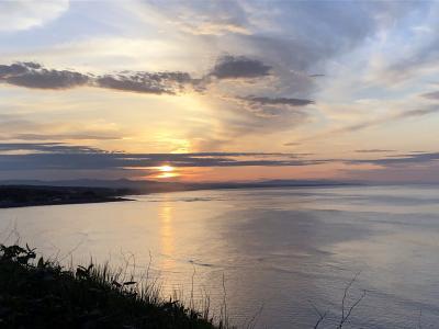 日本の北の果てまで行ってやるぅ  6  日の出岬で、夕陽を愛でた