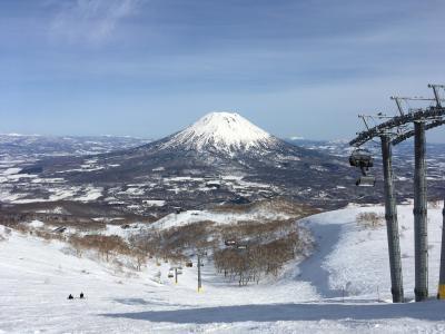 春スキーでニセコ、アンヌプリとヒラフを滑りました=2021年4月