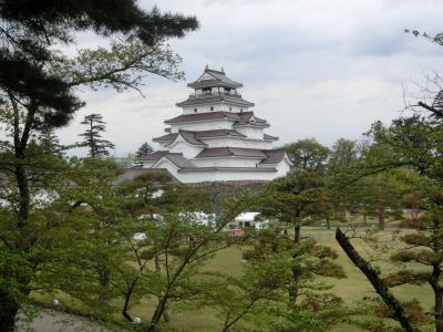 2021GW 会津7:会津若松の鶴ヶ城天守と茶室麟閣、日帰り温泉そしてソースカツ丼
