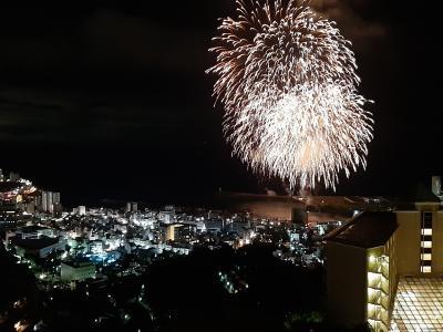 熱海かんぽの宿からの、熱海海上花火