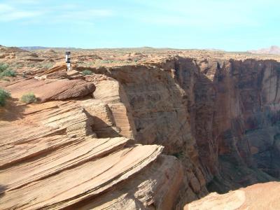アリゾナ州 ページ - 当時は観光客も少ないホースシューベンドに友人たちと訪問