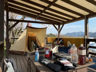 PICAさがみ湖で楽ちんキャンプ&イルミニオン 2021.3.27~28