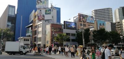 【ちふ散歩】新国立競技場~外苑前~表参道~渋谷。屋外広告デジタルサイネージを見ながら。