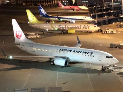 JAL国内線で名古屋から帰りました。