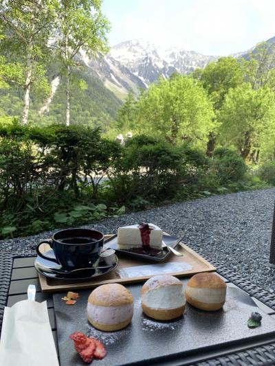 2021年6月 上高地の絶景とビールと♪気分最高~な女子旅♪vol.3~「五千尺ホテル上高地」で朝食&絶品レアチーズケーキ~河童橋~明神池~