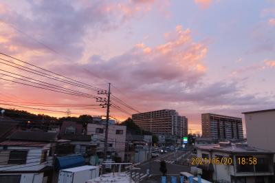 久し振りに見られた素晴らしい夕焼け