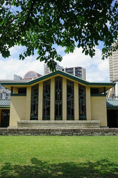 明治村で58年振りの帝国ホテルと再会する前にフランク・ロイド・ライト設計の自由学園明日館を見学する。