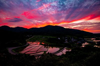 田染荘の夕焼け 2021