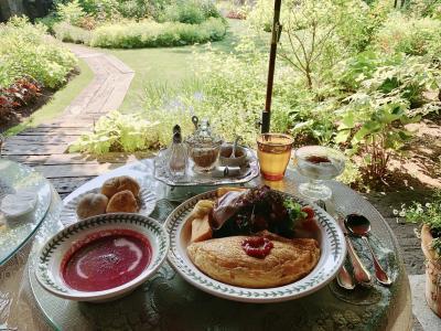 【初夏の軽井沢】ルゼ・ヴィラで楽しむ夕食と朝食とカフェ