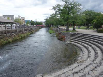 神田川を歩く。水のきれいな街はいいですね。富士山の恵みです。