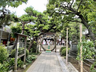 2021年6月 鳩森八幡神社参拝と千駄ヶ谷散歩&ピーターラビットカフェ