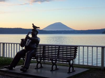 日本の北の果てまで行ってやるぅ  12  今回の旅のベスト、洞爺湖。山と湖の絶景、花火大会のオマケまで