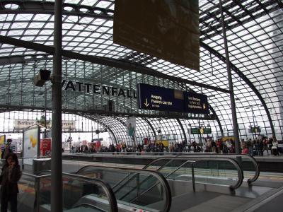 ベルリン中央駅は発展途上