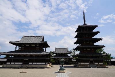 20210629-3 斑鳩 せっかく来たのだし、青空に五重塔…法隆寺