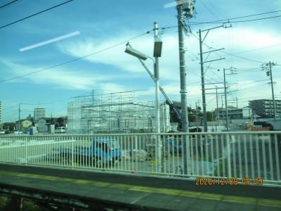 工事その9東海市南側 なかなかの新駅建設あたり
