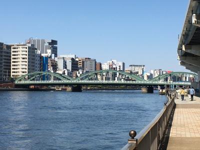 隅田川東岸を東京湾から東京都北区の岩淵水門まで遡る/その2・両国橋から白鬚橋へ、そして鳩の街も寄りました。