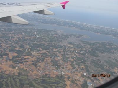 石垣再訪(39)鹿島臨海工業地帯上空。