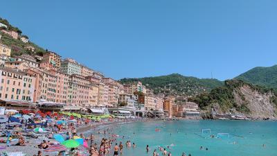 夏!イタリアのビーチ@Camogli