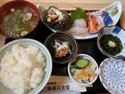 男鹿・北浦 亀屋食堂へ、食後は入道崎