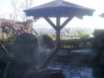 露天風呂から菊池川と山並みを眺める~山鹿温泉・眺山庭(日帰り回想録No.11)