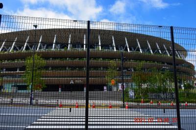 【東京散策117-1】 無観客開催となって封鎖された新国立競技場を一周してみた
