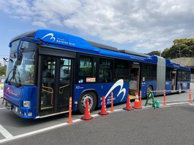 横浜:連節バス・ベイサイドブルーに乗りに行ったらガンダムにも会えちゃった・・