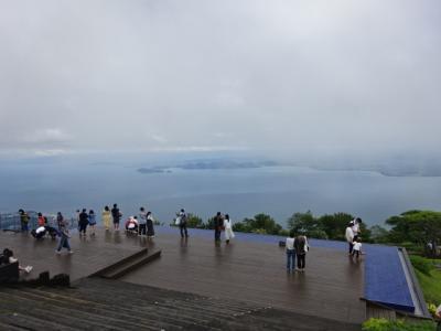 蓬莱山とびわ湖テラス、名鉄ハイキング、恋人たちの聖地に納得