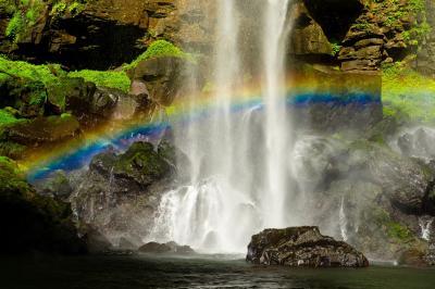 福貴野の滝の虹 2021