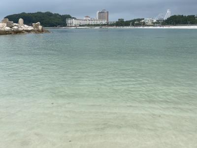 夏だー海だー泳ぎたい!和歌山県白浜に海水浴に行く「南紀白浜マリオットホテル」2泊で温泉も堪能♪vol.2 海水浴~猫の駅長