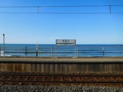 新潟ぐるり旅 海の見える駅めぐり(青海川駅、恋人岬)
