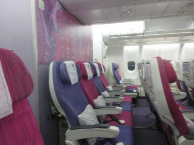 タイ国際航空 エコノミークラス ヤンゴンからバンコク