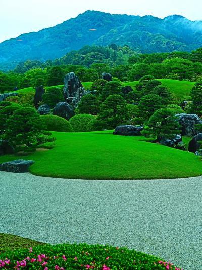 島根-4 安来-2 足立美術館b《枯山水庭》…亀鶴の滝‐遠望 ☆壮大な借景-苔庭 /池庭も