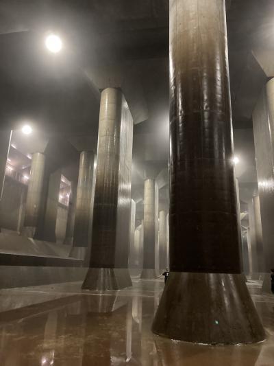 夏のはじめ、首都圏外郭放水路の「地下神殿」で涼む