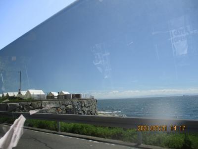豊浜往復の海岸7月
