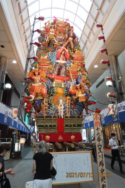 久し振りに福岡へ旅をしました⑤川端通りの山笠飾り