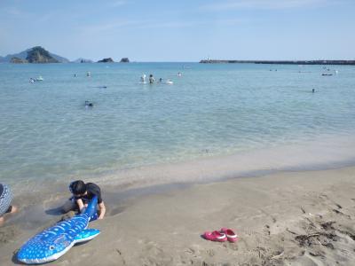 2年ぶりの海水浴!若狭和田海水浴場