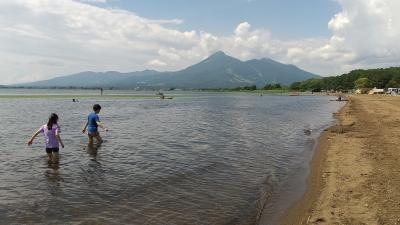 2021年7月・宮古島プランBは福島旅でキャンプと温泉★~その1・猪苗代湖でキャンプ&湖水浴&朝ヨガ♪