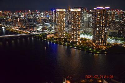 2021 三井ガーデンホテル豊洲ベイサイドクロスからのベイエリアオリンピック会場や選手村の眺め