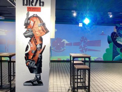 船場センタービル ウォールアート☆ 地下連絡通路が 巨大なアート空間に!