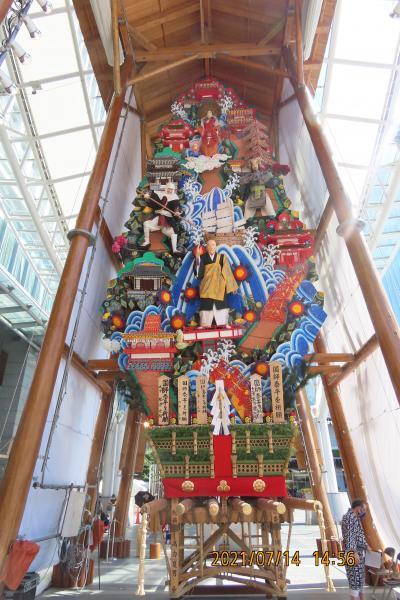 久し振りに福岡へ旅をしました⑧博多駅前の山笠飾り