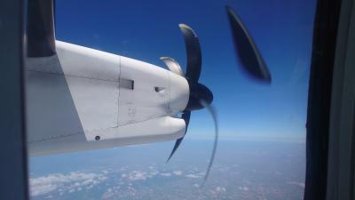 プロペラ機(ボンQ)に乗りに日帰り北海道フライト