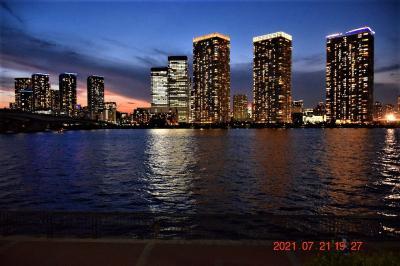 【東京散策118】東京湾夜景とランニングスポットで話題の豊洲ぐるりパークを一周してみた