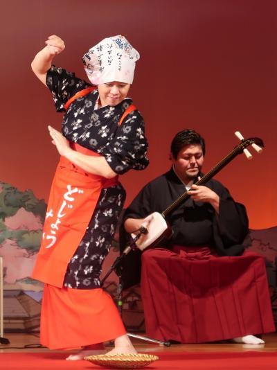 島根10 安来-8   安来節演芸館d  どじょう掬い-女踊りはたおやかに ☆優美で上品-しなやかさ