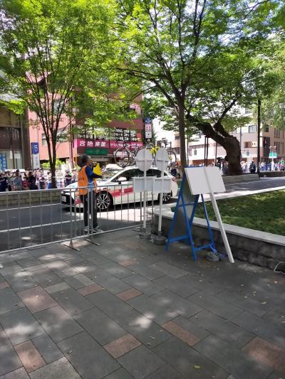 東京五輪自転車ロードレース女子 府中駅前