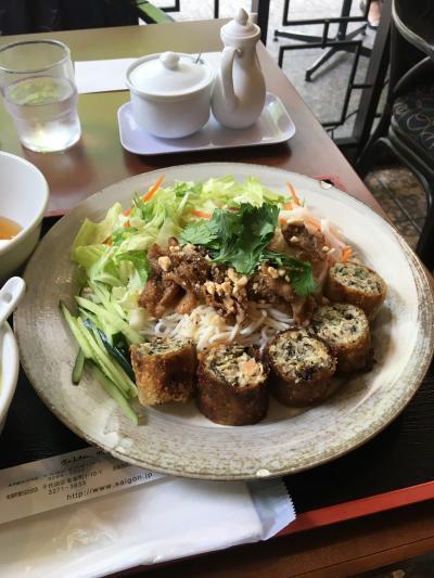 """丸の内のベトナム料理のお店 """"Saigon"""" で、いつもの """"ブン・チャー・ゾー""""!"""