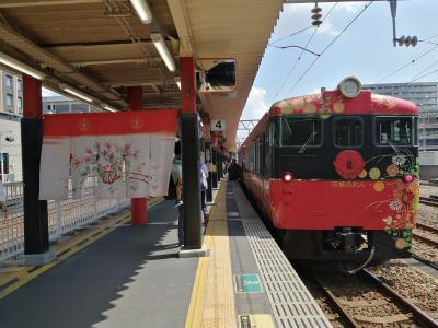 '21 夏の北陸100名城旅6 石川 観光列車「花嫁のれん」で七尾に移動