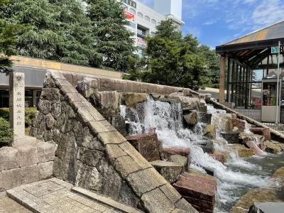 長岡城の本丸跡の石碑