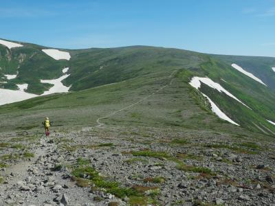 神々の遊ぶ庭へ再び その3 緑岳・白雲岳・赤岳大縦走前編 花に彩られた絶景の稜線歩き