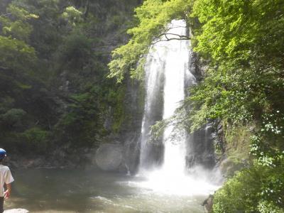 箕面大滝と念願の天空の棚湯 夜景が綺麗~~でした♪